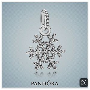 PANDORA Snowflake Silver Pendant ❄️
